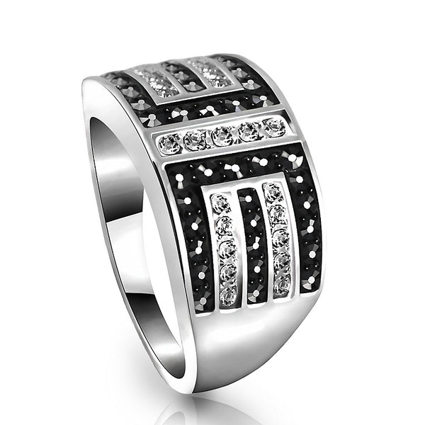 Free Shipping - Channel Setting New Geometric Silver Unisex Popular Ring