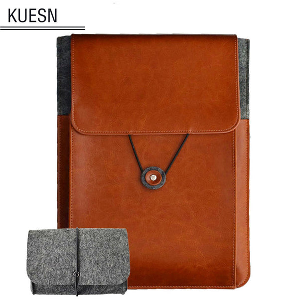 Genuine Leather Vintage Envelope Laptop Sleeve 11.6 13.3 15.6 inch for Macbook Air Macbook Pro - SilkRoads Online