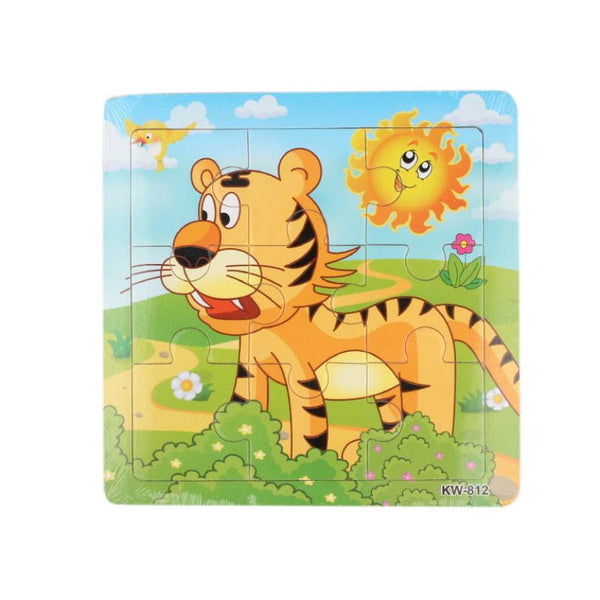 Wooden Tiger Jigsaw Puzzle For Kids Education And Learning