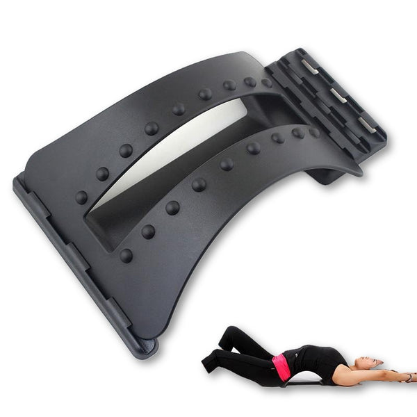 Back Massage Magic Stretcher Equipment Stretch Relax Lumbar Support Spine Pain Relief