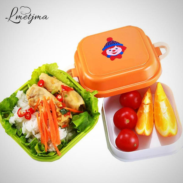 Children's 2 Layers Lunch Box Microwave For School And Food Storage Container