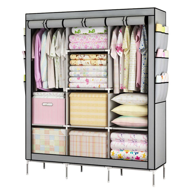 Large Portable Closet For Storage  With Shelves Multi Layer Sturdy Durable Unit - SilkRoads Online
