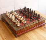 Classical Collectible Decorative hand made 32 pieces chess set - SilkRoads Online
