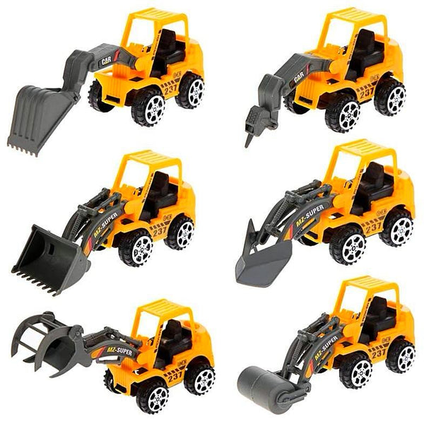 6Pcs Engineering Vehicle Mini Lot Vehicle Sets - SilkRoads Online