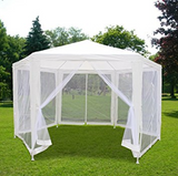 11x13 Garden Canopy  Tent Gazebo With Nettings Mesh Sidewalls