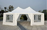 29' x 21' 10-Wall Decagonal Large Party Gazebo Tent - White