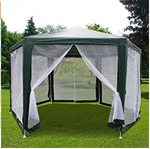 6.6'x6.6'x6.6' Outdoor Hexagon Canopy Party tent Gazebo Sun Shade Shelter