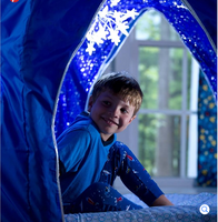 Kids Galactic Space Bed Tent w Star Light