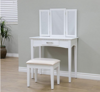 3 PIECE WHITE OR ESPRESSO VANITY SET