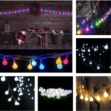 100 LED Globe String Lights