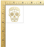 Sugar Skull set of 25 premium waterproof metallic gold and silver temporary jewelry foil Flash Tattoos