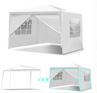 10 x 10 White Event Tent with Windows & Walls (detachable)