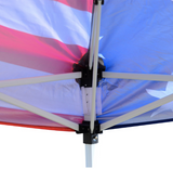 4th of July 10' x 10' Easy-Pop Up Canopy Tent with Removable Sides - American Flag Print