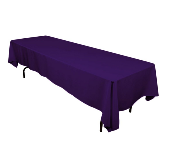 "Rectangle Tablecloth - 60 x 126"" Inch -  Rectangular Table Cloth for 8 Foot Table in Washable Polyester"