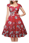 Sugar Rosa Pinup Dress