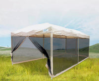 10x20 Tan tent with mesh walls