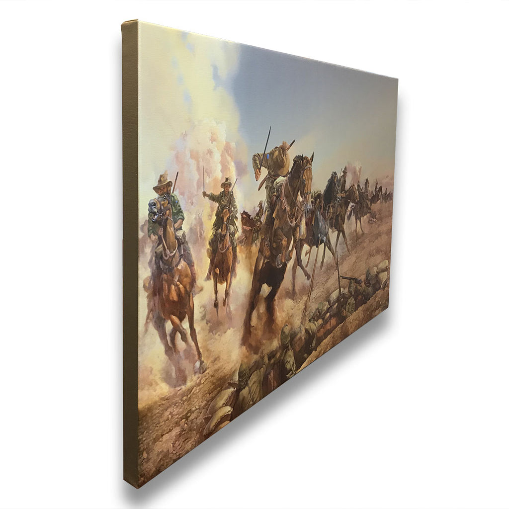 Centenary Limited Edition - Charge at Beersheba - Gallery Stretched