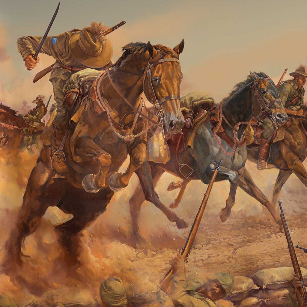 Charge at Beersheba Edition - Gallery Edition 92cm x 148cm