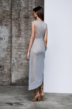 Lexi - Prana Dress - Light Grey