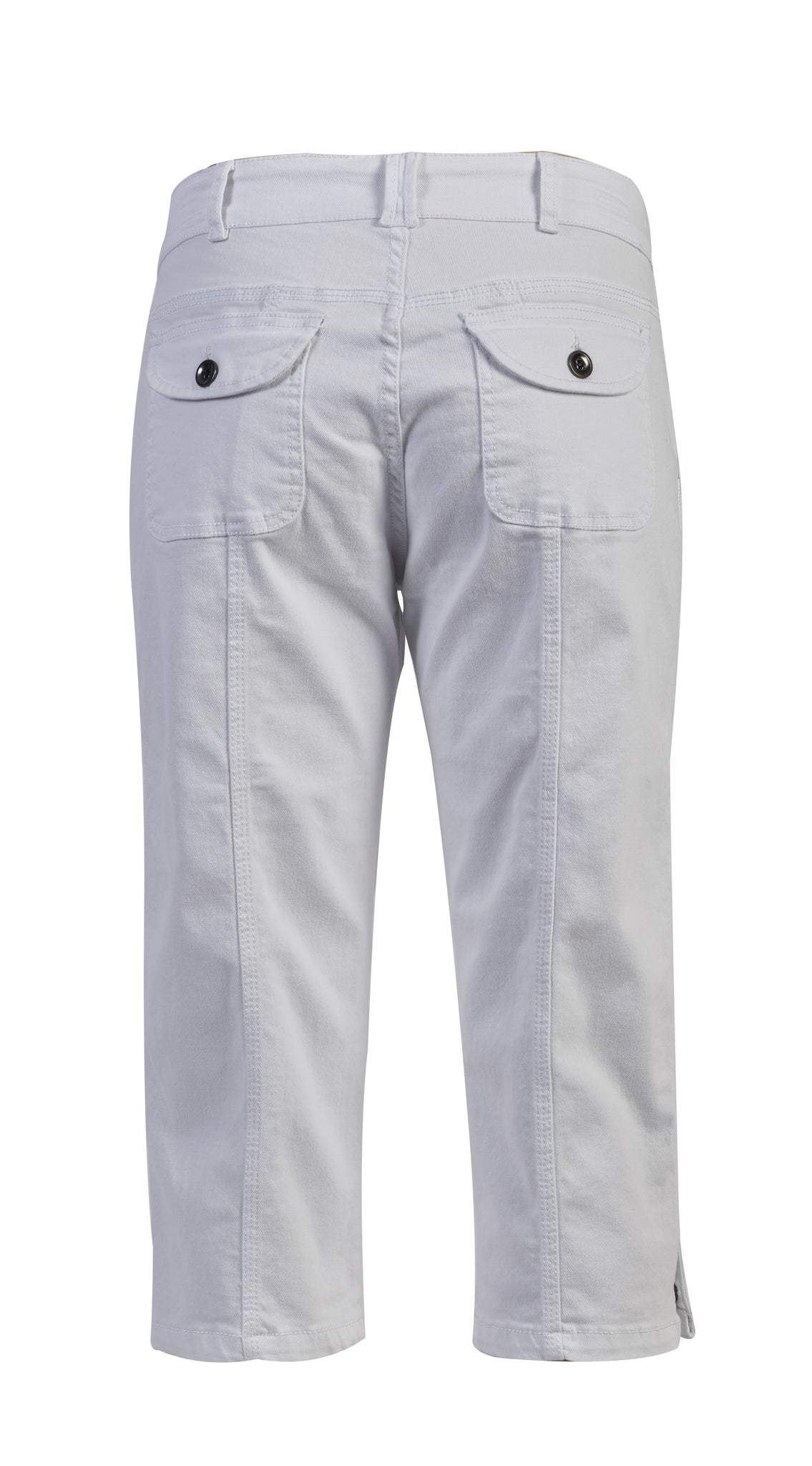 White Denim 3/4 Length Pants by Vassalli