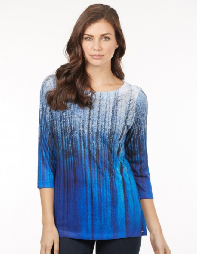 Blue Ombre Top by FDJ