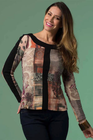 Tuscany Stripe Top by China Doll
