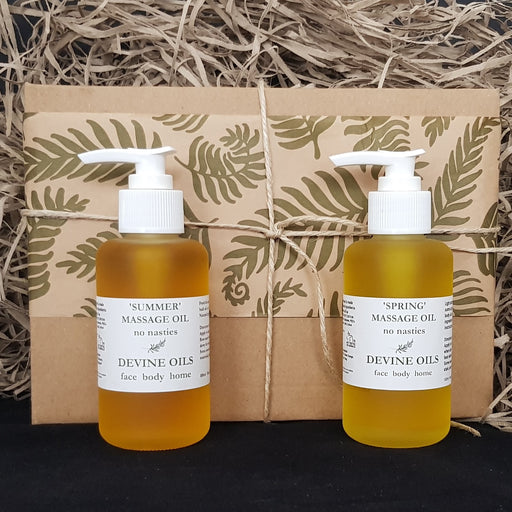 Summer & Spring Organic Massage Oils Set