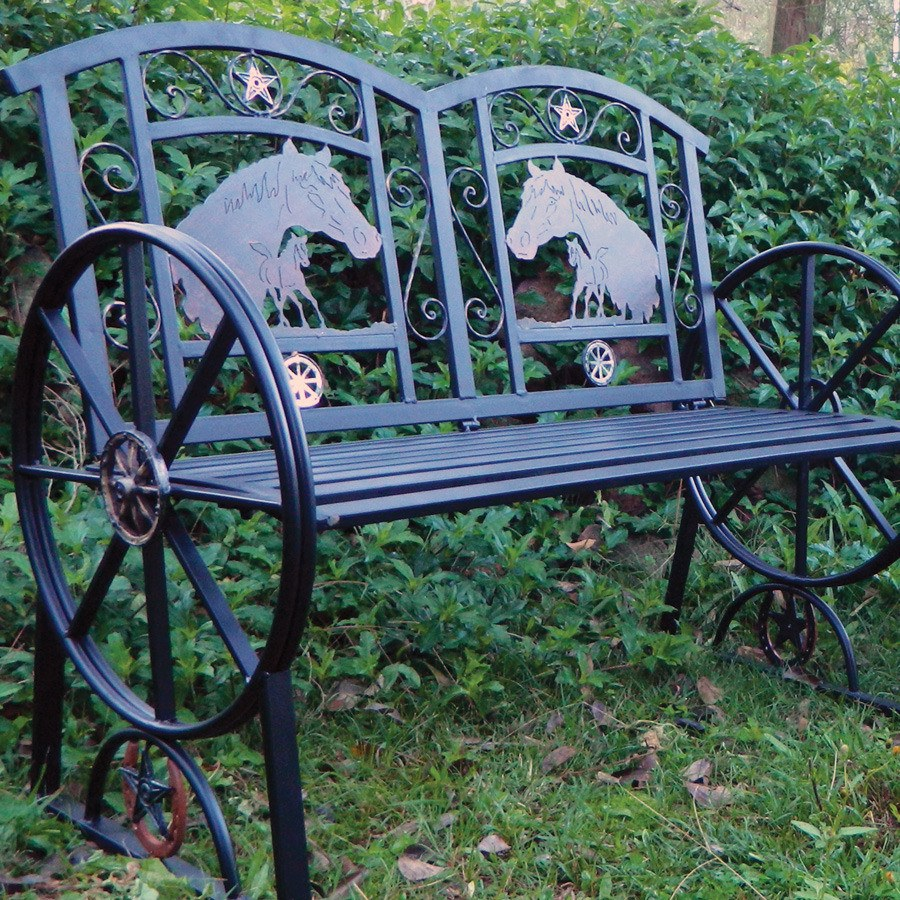 Garden Bench/Outdoor Twin Seat - Steel - Freestyle Saddlery