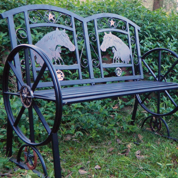 Garden Bench/Outdoor Twin Seat - Steel