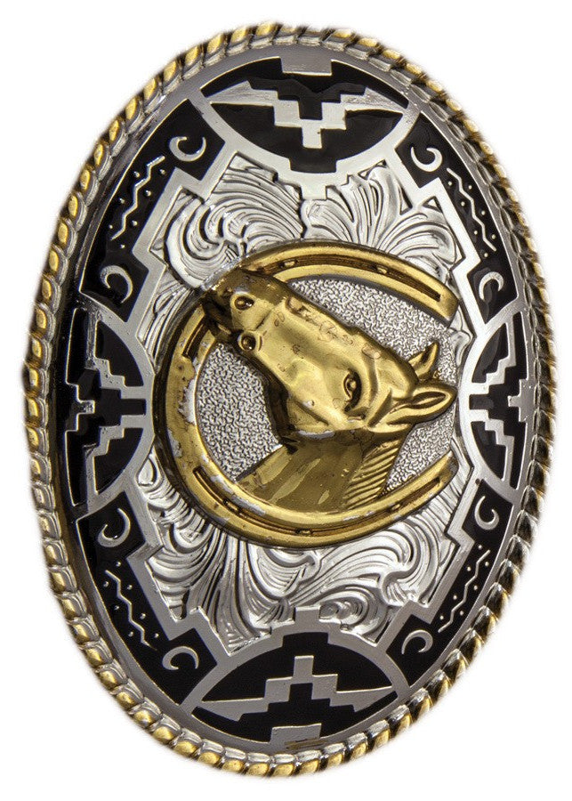 Belt Buckle Horse head - Freestyle Saddlery