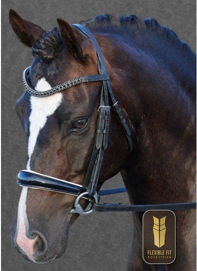FlexiFit Gel Snaffle Bridle - Freestyle Saddlery