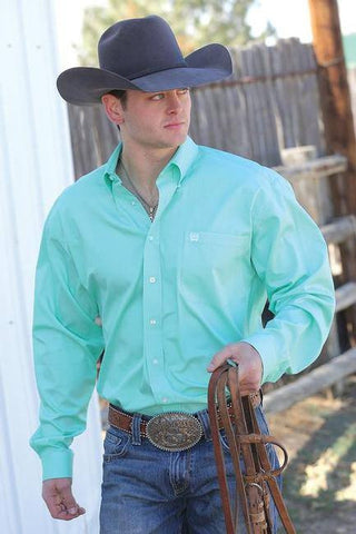 Shirt Men's Solid Mint - Freestyle Saddlery