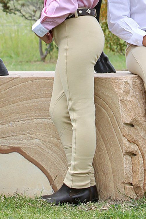 Child's jodphur Beige pull on plain - Freestyle Saddlery