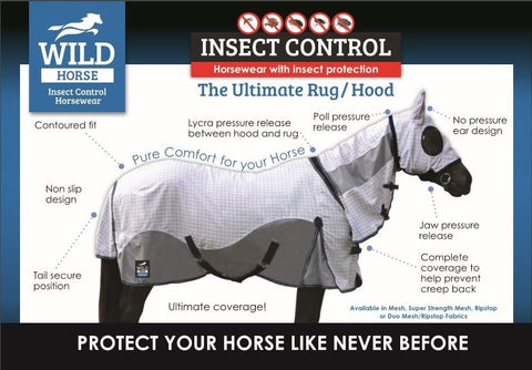 Wild Horse Insect Control Rug combo w/hood - Freestyle Saddlery