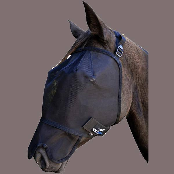 Wild Horse Fly veil w/mesh nose - Freestyle Saddlery