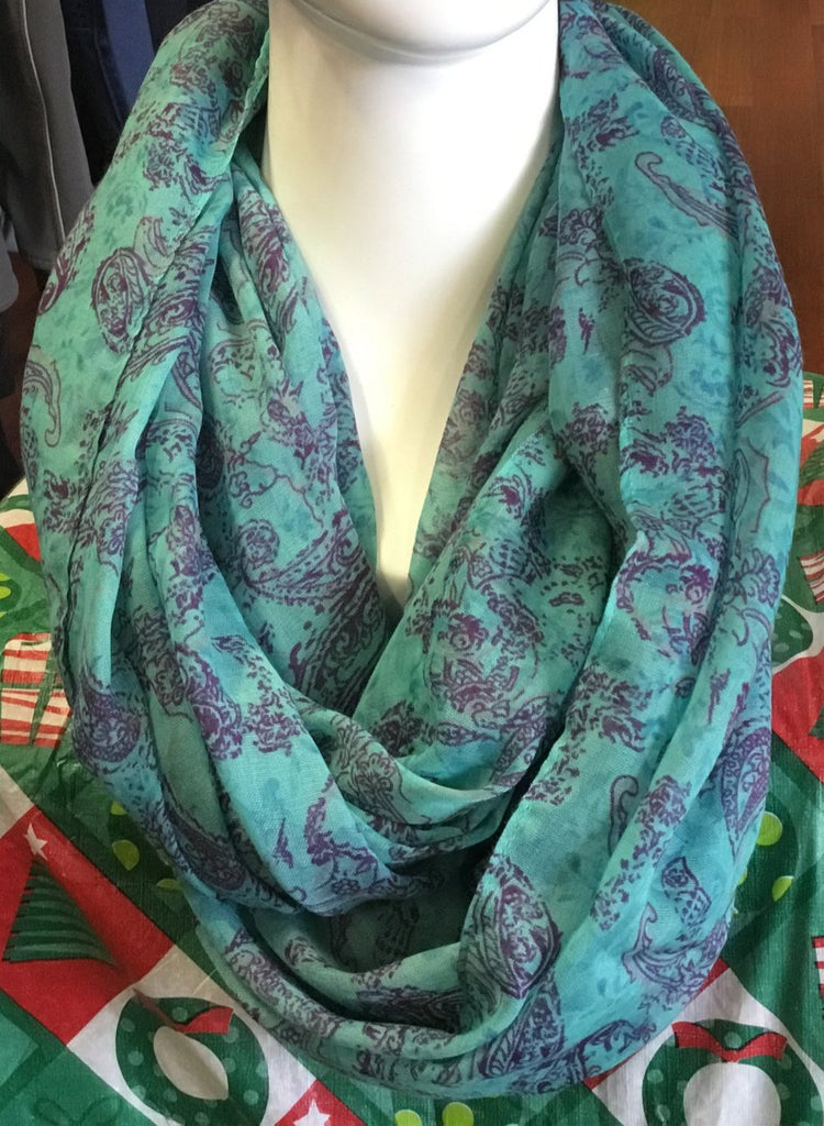 Scarf Infinity Paisley