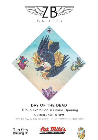 ZB Gallery Day of the Dead Group Exhibition Flyer