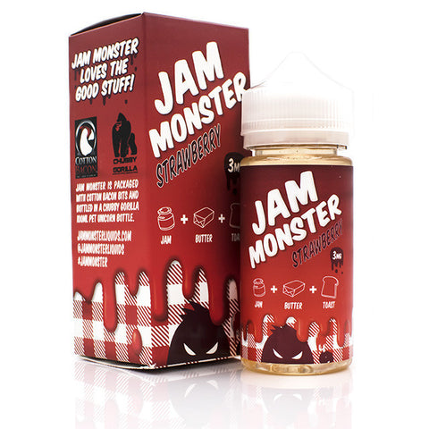 Strawberry Eliquid by Jam Monster | Strawberry Jam Eliquid | Strawberry Jam Ejuice