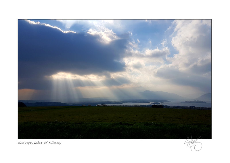 35. Sun rays, Lakes of Killarney