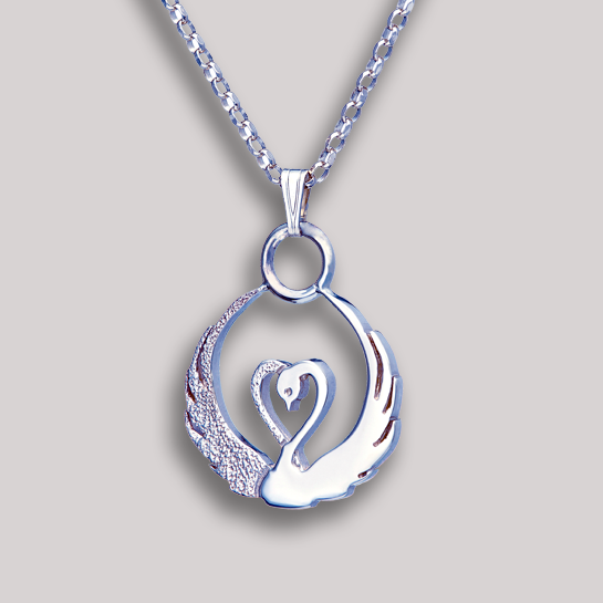Children of Lir Silver Pendant