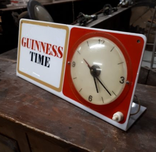 Rare Antique Guinness Clock 1967
