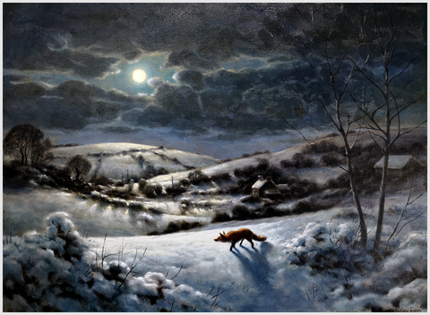 JULIAN FRIERS RUA - Fox in moonlight