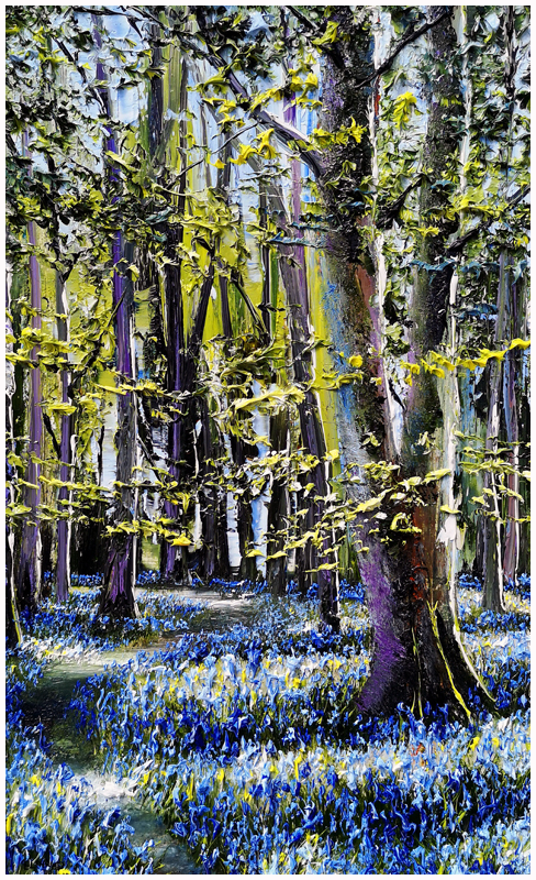 MARK ELDRED - Bluebells and Celendines