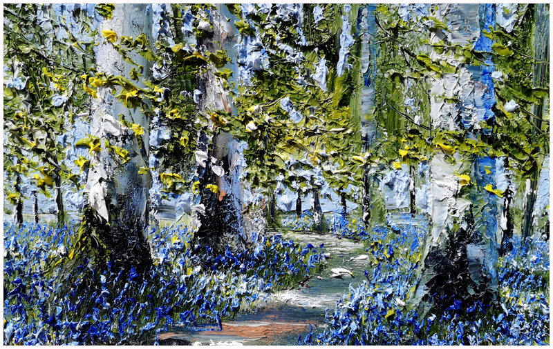 MARK ELDRED - Beech Trees and bluebells