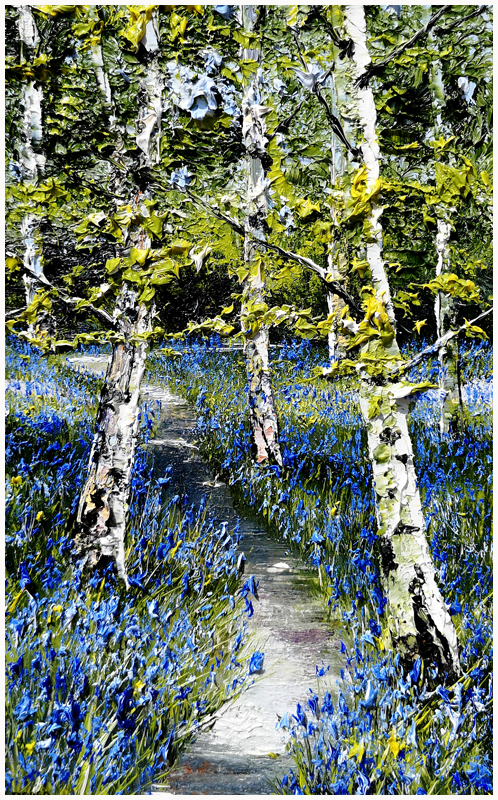 MARK ELDRED - Silver Birch and Bluebells Killarney