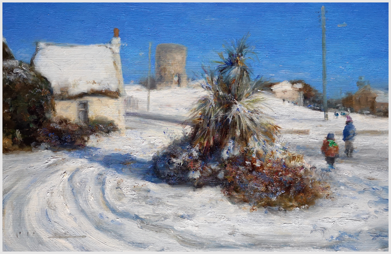 PAUL KELLY - Rush Co Dublin, Snowscene