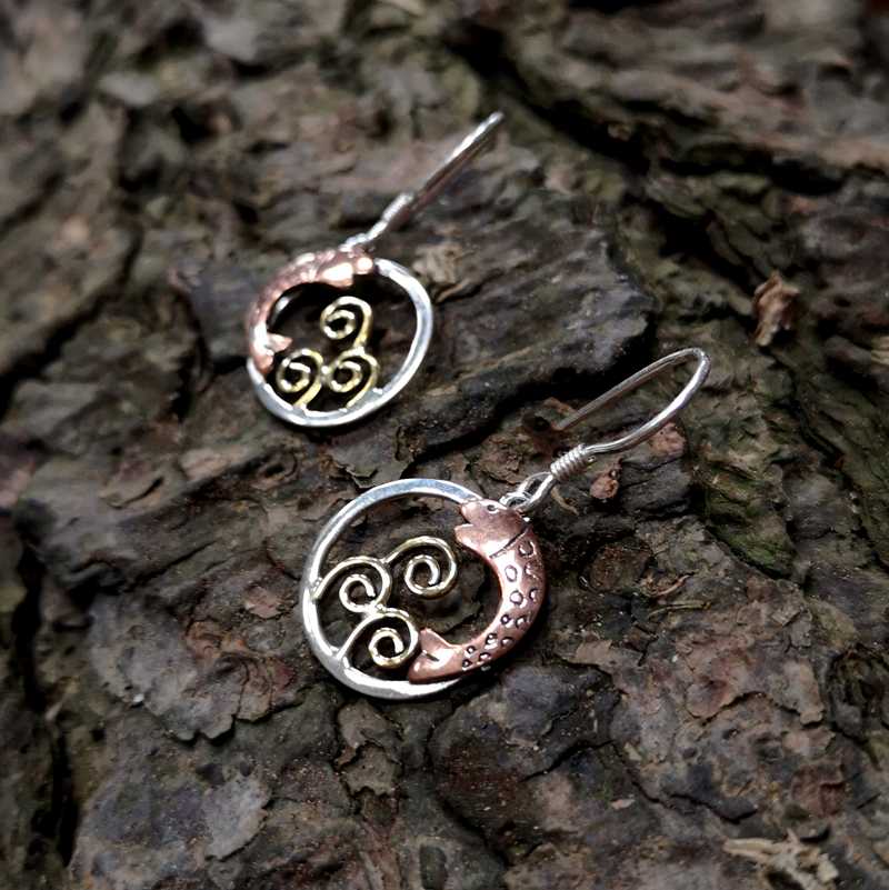 Salmon of Knowledge Silver Earings
