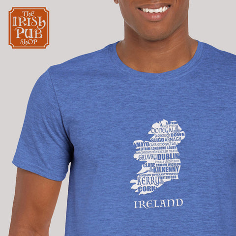 Ireland Map T-shirt