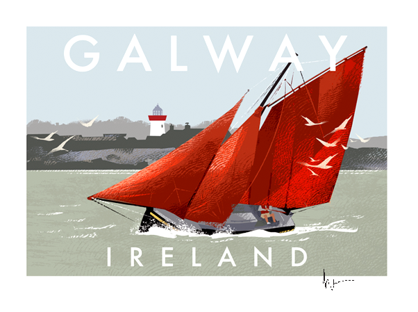 Galway Hookers - Irish Travel Posters
