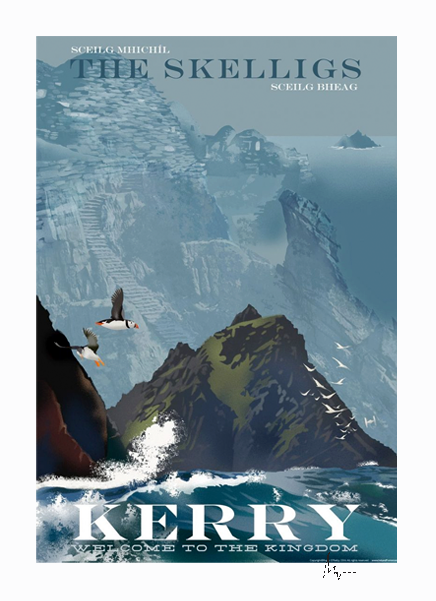 Skellig Michael - Irish Travel Posters
